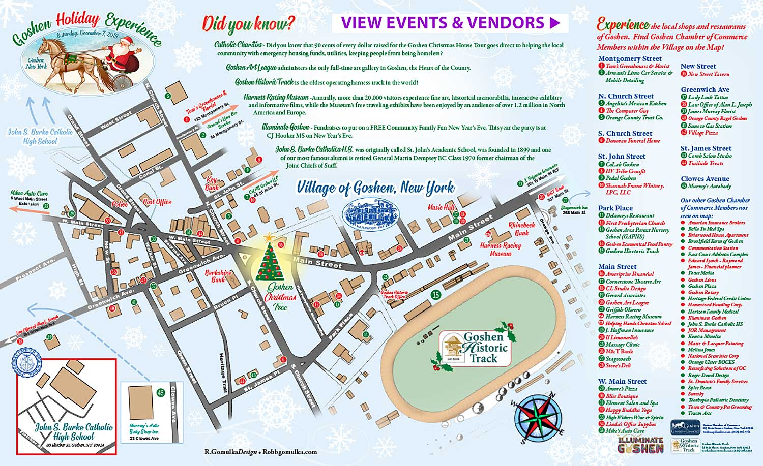 Goshen Holiday Festival Map