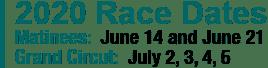 2020 Race Dates